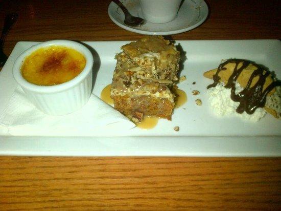 Sole Restaurant and Wine Bar: Dessert sampler