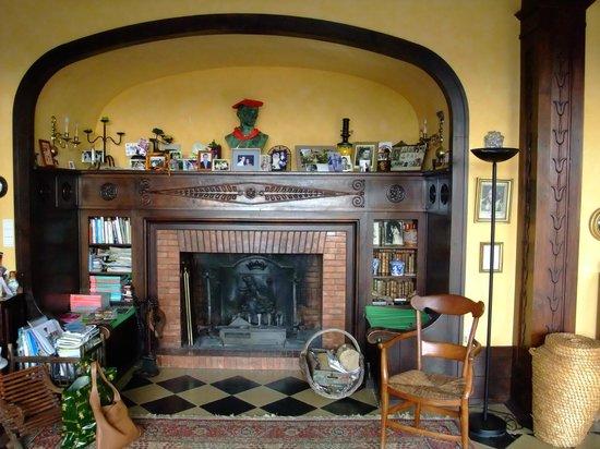 Villa La Croix Basque: La cheminée