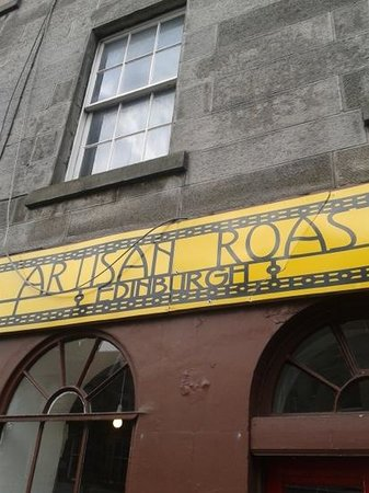 artisan roast: Not the best frontage, but inside, the best coffee