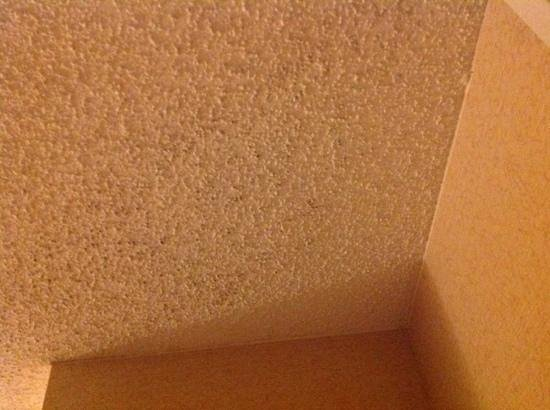 Homewood Suites Dallas/Addison: Black mold/dust on ceiling.  this was after it was cleaned.