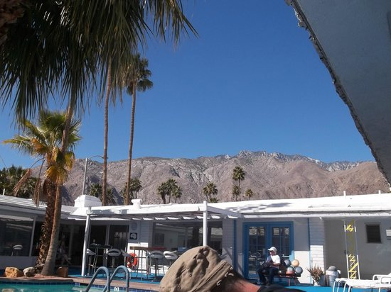 Palm Springs Rendezvous: Mountain view from the poolside loungers