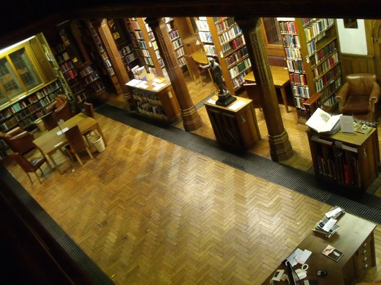 View of Gladstone's Library from the upper gallery