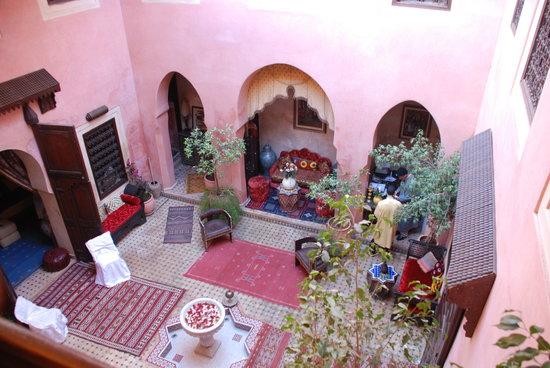 Riad Bahja : Blick ins Atrium