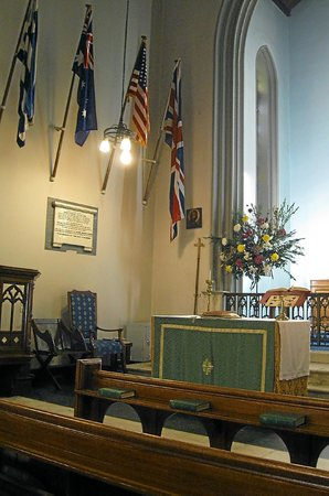 St Paul's Anglican (Episcopal) Church : Portion of front of interior