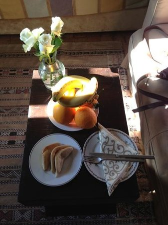 Riad Kheirredine: waiting in our room on arrival- so lovely!