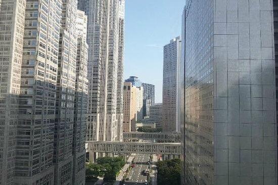 Shinjuku Washington Hotel Main: 部屋からは都庁など西口高層ビル群が眺められます。