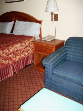 Americas Best Value Inn: bed, nightstand, loveseat