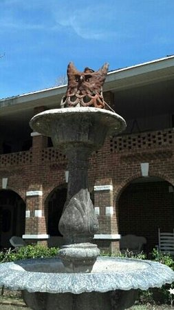 Thomas House : front entrance fountain