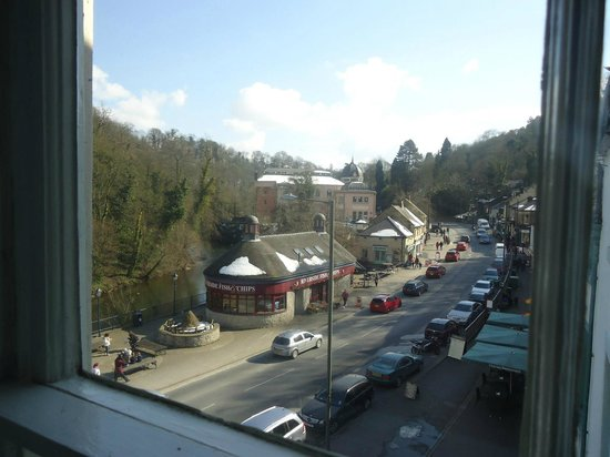 Hodgkinson's Hotel: View through the village towards the Cromford road