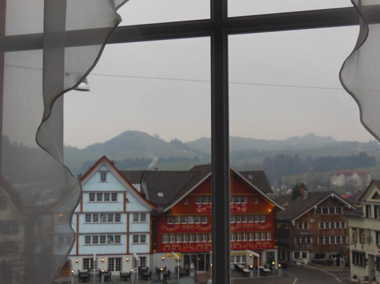 Hotel Appenzell: view from room