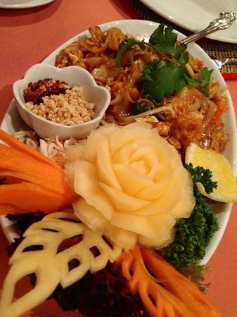 Siam Balcony Thai Restaurant: The beautifully presented, tasty main course.