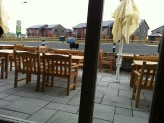 The Hog's Head Inn: view from our table