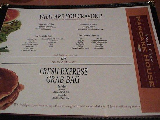 """BEST WESTERN PLUS Landmark Inn : Their idea of a """"Full Cook to Order Breakfast Menu"""""""