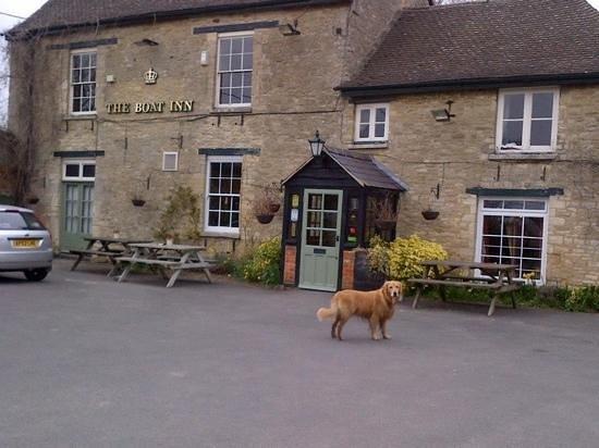 Max outside The Boat Inn