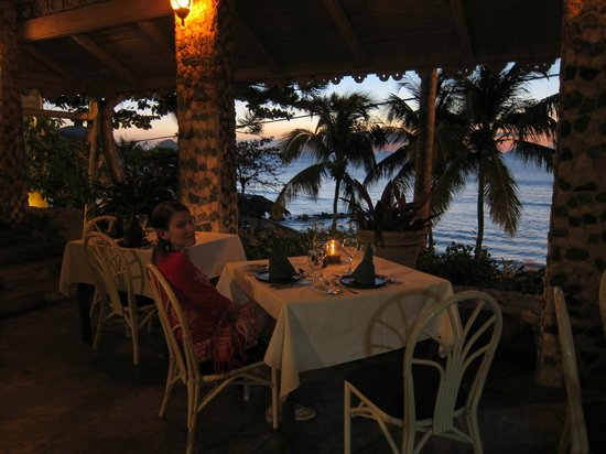 Sugar Mill Hotel : View from the breakfast and dinner spot.