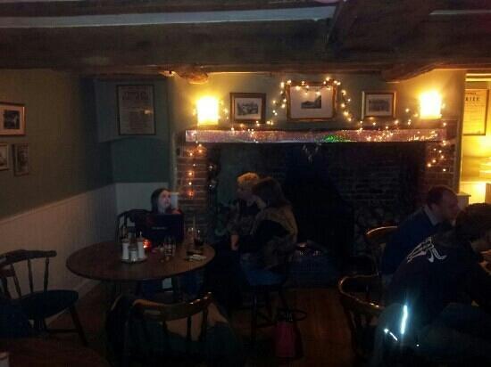 The Bull Inn: Bar with open fire