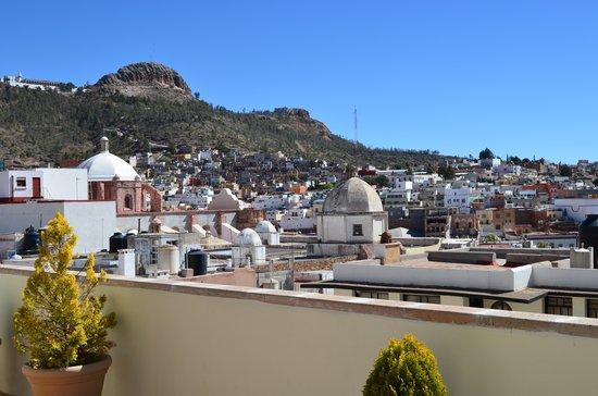 Terrasse Hotel: Vista de La Bufa desde la terraza