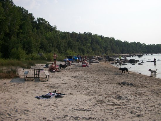 "Penetanguishene, Kanada: the so called ""dog beach"""