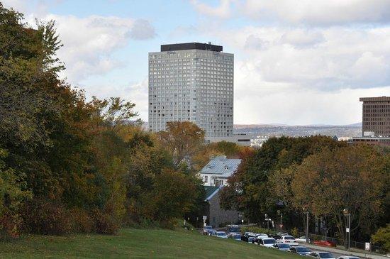 Hilton Quebec: Hotel from Citadelle de Quebec