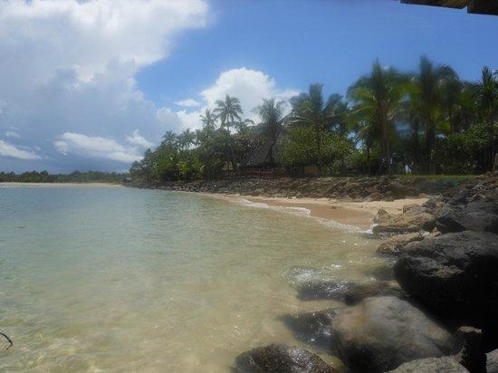 Shangri-La's Fijian Resort & Spa: view from jetty