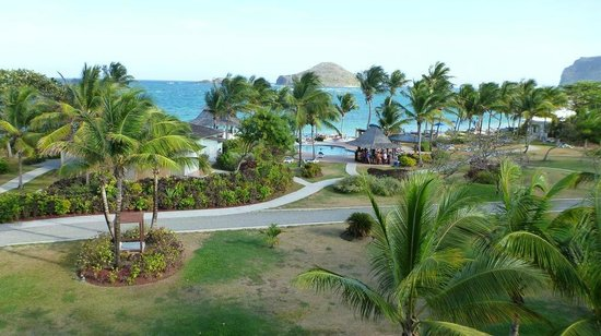Coconut Bay Beach Resort & Spa: view from 4th floor Harmony section