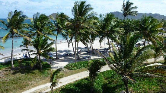 Coconut Bay Beach Resort & Spa: Beach from weter slide