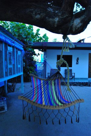 Popeyes Beach Resort: Nice little hammock next to the Parrot cages
