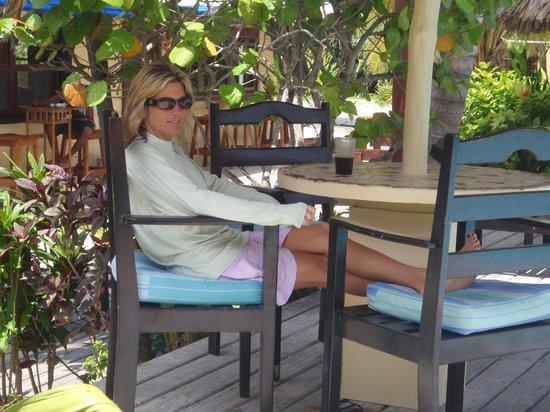El Pescador Resort: Relaxing after diving