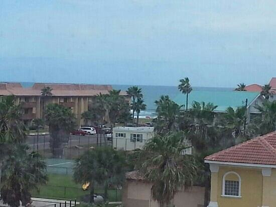Holiday Inn Express Hotel & Suites- South Padre Island: ...this was taken from the fourth floor..i hink it is about the only view of the ocean.