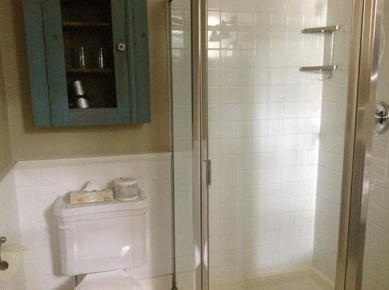 Rosewood Victoria Inn: Includes shower stall with claw foot tub