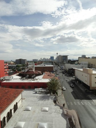 El Cortez Hotel & Casino: view of strip from room
