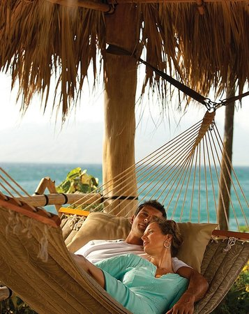 Four Seasons : Private hammocks are perfect for relaxation