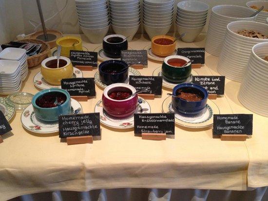 Hotel Wilhelmshöhe: Homemade jams and more.