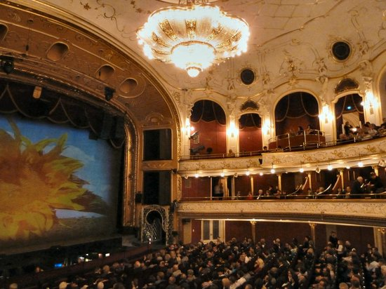Budapest Operetta Theatre: The view from our box seats.