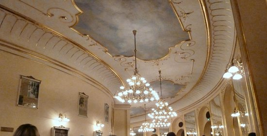 Budapest Operetta Theatre: One of the gorgeous ceilings.