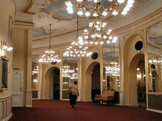 Budapest Operetta Theatre: The upstairs gallery.