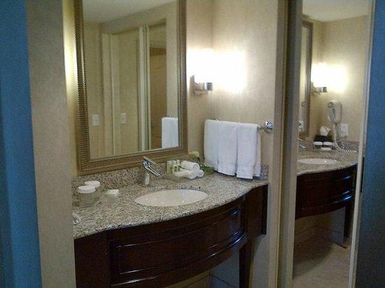 Homewood Suites by Hilton Toronto-Markham : Vanity/dressing area one bedroom suite