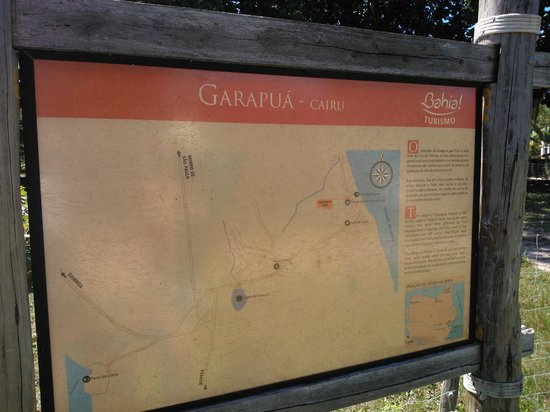 Garapua Beach: Placa descritiva