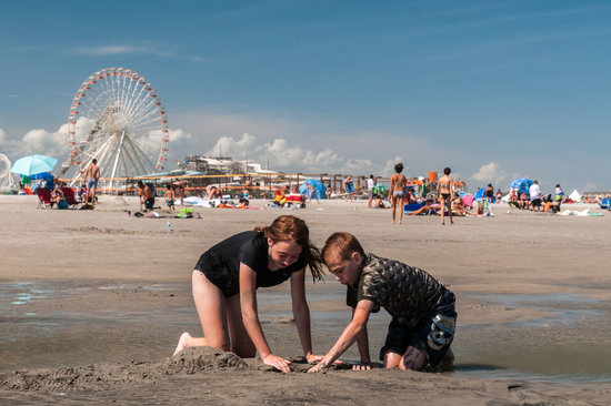North Wildwood Beach: Playing in the Sand