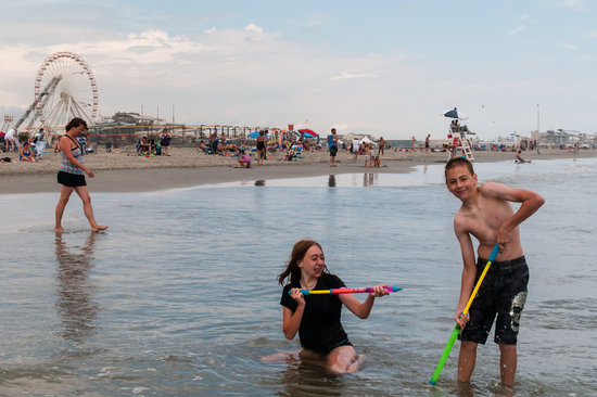 North Wildwood Beach: Playing in the Ocean