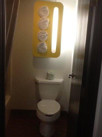 Motel 6 York : New toilet and towel holder/light