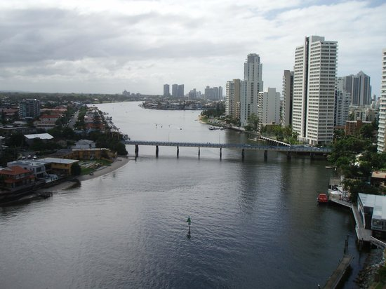 Moorings on Cavill Avenue: View from penthouse apartment