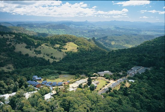 O'Reilly's Rainforest Retreat, Mountain Villas and Lost World Spa: Aerial of O'Reilly's