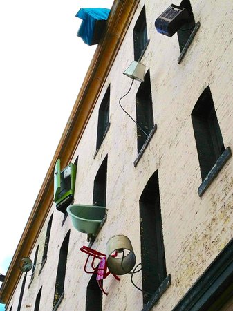 Defenestration Building : Along the Sixth Street wall