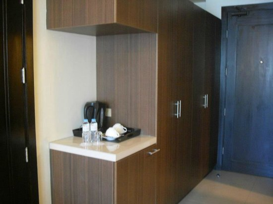 Widus Hotel and Casino: Coffee Nook with a small fridge under it (hidden from view)