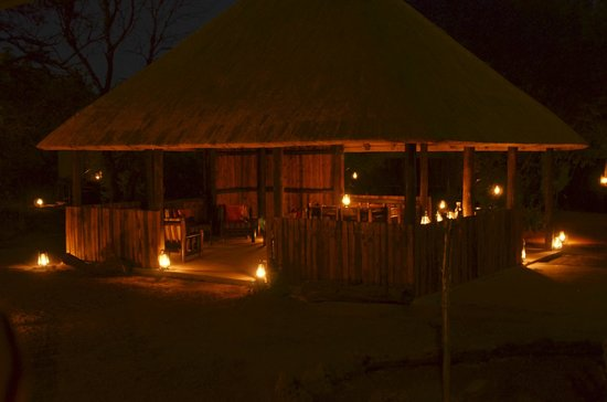 Mosetlha Bush Camp & Eco Lodge: Camp after evening drive