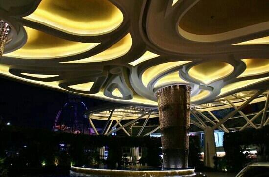The Trans Luxury Hotel Bandung: the lobby entrance facade