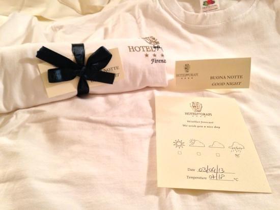 Hotel Degli Orafi: evening gift