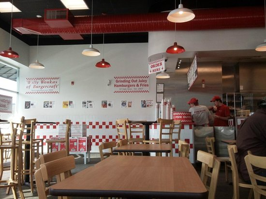 Five Guys: the view...