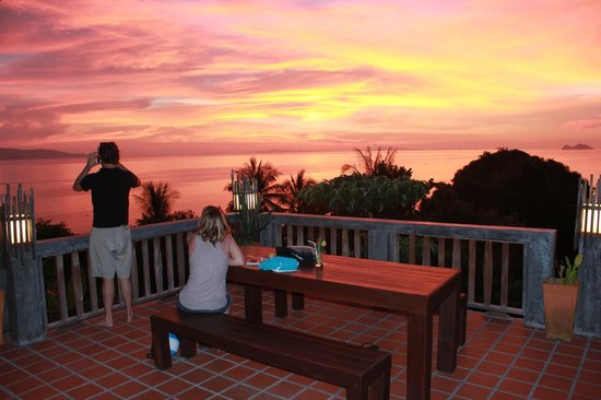 Thongyang Seaview Restaurant and Lounge Bar: Especially amazing sunset!